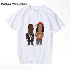 Odd Future Wolf Gang Kill Them All T Shirt Men Summer OFWGKTA Tees Hip Hop Collective Cartoon T-shirt