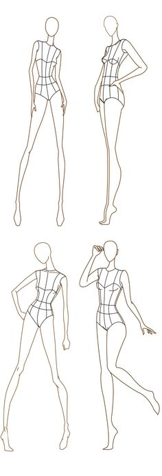 Awesome Free Fashion Croquis: Fashion Figure Templates von www. Fashion Figure Templates, Fashion Design Template, Design Templates, Templates Free, Drawing Templates, Drawing Ideas, Fashion Sketch Template, Drawing Poses, Croquis Drawing