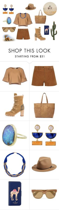 """""""Let's get Lost"""" by flowerbud77 ❤ liked on Polyvore featuring The Fifth Label, Frame, Christian Louboutin, Tony Bianco, rag & bone, Kate Spade, Oliver Peoples and GET LOST"""