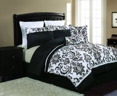Amazon.com - Victoria Classics Daniella 8-Piece Flocked Comforter Set 3a8be9e0a