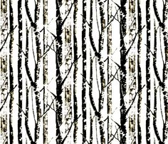 Winter Birch fabric by nascustomwallcoverings on Spoonflower - custom fabric