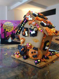 DIY Haunted Gingerbread House from Trader Joe's #pinsavvy #halloween