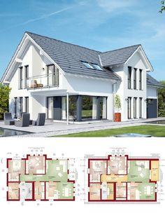 Modernes Einfamilienhaus Mit Einliegerwohnung U0026 Satteldach Architektur    Zweifamilienhaus Grundriss Haus Celebration 211 V2 Bien Zenker