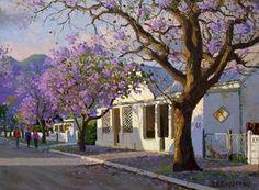 Landscape Art, Landscape Paintings, Landscapes, South Africa Art, African Paintings, South African Artists, Love Painting, Artist Art, Art Oil