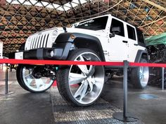 """When people hear the word """"Jeep,"""" they instantly recognize it. Jeep is a household brand that most people in America know very well. in fact, most people in the Jeep Suv, Jeep Cars, Custom Wheels, Custom Cars, Custom Jeep, Single Cab Trucks, Donk Cars, Truck Rims, Car Man Cave"""