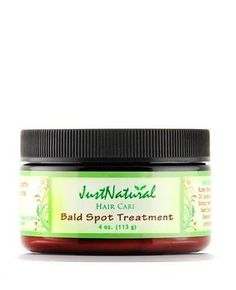 Bald Spot Treatment - -    Stop Early Stages of Male and Female Patterns Baldness and Alopecia. Targets the Bald Spot Areas and Grow Hair Faster.   Bald spots can result from harsh chemicals, hair styling methods, allergic reactions, hair color, relaxers, medications, stress or health and diet conditions.    Our hair loss spot treatment cream is a hair accelerator that feeds follicles and helps remove obstacles that impede hair from being its healthiest