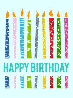 Send Free Lively Birthday Candle Card to Loved Ones on Birthday & Greeting Cards by Davia. It's free, and you also can use your own customized birthday calendar and birthday reminders. Happy Birthday Parties, Art Birthday, Happy Birthday Images, Happy Birthday Greetings, Birthday Greeting Cards, Birthday Wishes, Happy Birthdays, Birthday Memes, Birthday Stuff