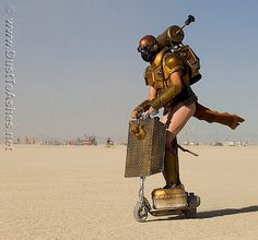 Burning Man 2011 people - Steampunk Robot by Dust To Ashes, via Flickr