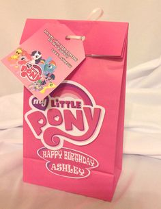 PRINTABLE My Little Pony Favor Bags Decorations, includes decorations and thank you tags, by PartiesByTristan on Etsy, $7.00