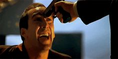 He certainly lacks a fear of death. | Nicolas Cage Is The Greatest Actor In The Universe