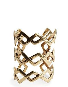 Large Gold Zig Zag Cuff - Accessories - Lucky Brand Jeans
