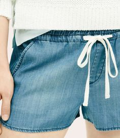 Thumbnail Image of Color Swatch undefined Image of Lou & Grey Chambray Shorts