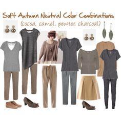 Soft Autumn Neutral Color Combinations