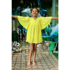Basil's Bar Beach Cover - Yellow - Girls Beachwear - Girls