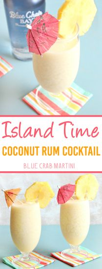 Island Time Cocktail + Blue Chair Bay Rum Giveaway! - Blue Crab MartiniBlue Crab Martini