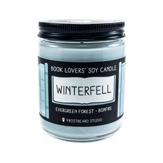 Winterfell  8 oz Book Lovers' Soy Candle  Book Candle