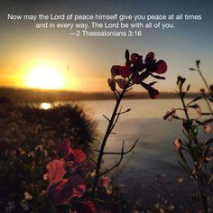 2 Thessalonians 3:16 Ocean sunset