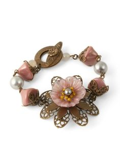 Love this, it combines our Vintaj Passion Flower and Lampwork Glass Flower - Beautiful!