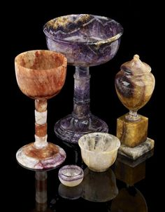A small selection of Blue John pieces to be auctioned @ Fellows auction Oct 5th 2015