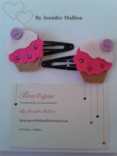 cupcake hair clips by JeniBowtique on Etsy Hair Clips, Bobby Pins, I Shop, Cupcake, Hair Accessories, Etsy, Beauty, Hair Rods, Cupcakes