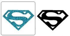 Sjabloon Glittertattoo `Superman`