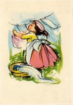 Soloillustratori Old Cards, Paper Dolls, Diy And Crafts, Drawings, Artist, Painting, Fictional Characters, Heaven, Danish