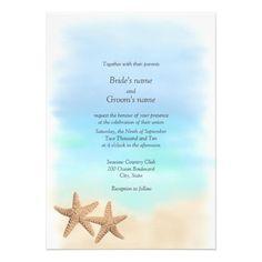 STARFISH WEDDING | Starfish Beach Theme Wedding Invitations from Zazzle.com