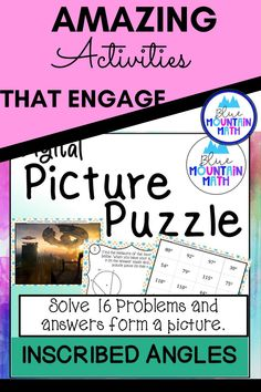 Looking for a fun way to practice finding the measures of angles inscribed in circles with an engaging activity? This activity includes 16 problems in google slides where students will find the angle measures using a diagram. Once they have their answer, they will copy the picture on the slide to their answer sheet. When they have solved all the problems, a picture will appear. Great practice for distance learning and classroom as well. Or assign for homework.
