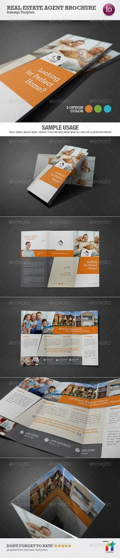Real Estate Agent Brochure Template — InDesign INDD #realtor #business • Available here → https://graphicriver.net/item/real-estate-agent-brochure-template/4200249?ref=pxcr