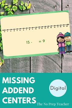 Elementary math teachers, are you teaching your students how to find the missing addend or subtrahend in an equation? This skill can be tricky for students. Make it easy with these digital math centers! Perfect for first grade kids. Drag and drop manipulatives make the centers interactive for your students who are learning online. Distance learning made easy and simple. Assign through google classroom and your kids can work independently online. Includes audio narration for your elementary…