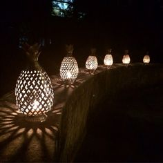 It's a pineapple parade tonight! Our set up on my neighbors terrace for a barbecue with friends. NK. #ecru #lantern #lights #pineapple #jaipur #india #nights #outFollow