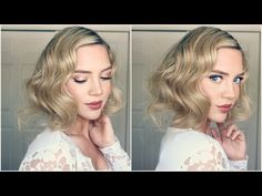 Great Gatsby Faux Bob || 1920s Inspired Hair - YouTube