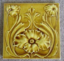"Original early English Art Nouveau tile , c1902 6x6""Tile 236 last one"