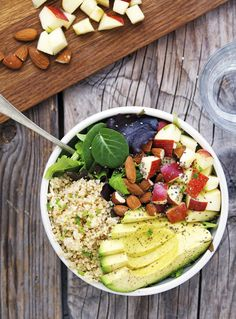 Quinoa Avocado and Apple Detox Salad | healthy recipe ideas @xhealthyrecipex |