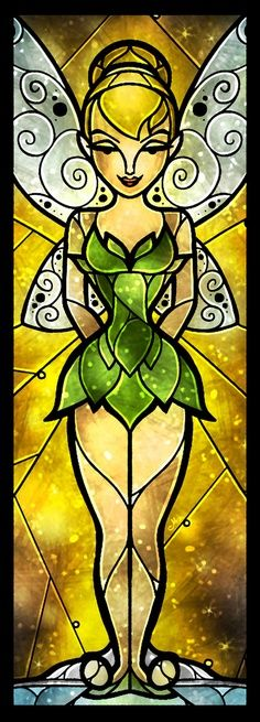 Really cute this Stain glass Tinkerbell!