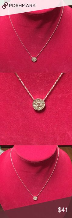 NWT Silpada Newly Released Necklace. .925 Sterling Silver and Swarovski crystal circle necklace.  Pet and smoke free home. Silpada Jewelry Necklaces