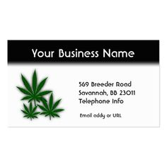 Weed Business Double Sided Business Card 70% off with code CYBERMONSAVE