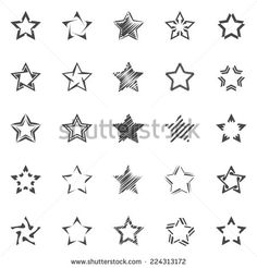 Images, photos et images vectorielles de stock de Pentagonal five point star collection of thirty six emblem icon design elements, vector template set similaires - 133338362 Form Tattoo, Shape Tattoo, 1 Tattoo, Color Tattoo, 3 Stars Tattoo, Small Star Tattoos, Little Tattoos, New Tattoos, Tatoos