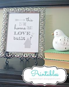 Great house-warming gift and FREE printable.