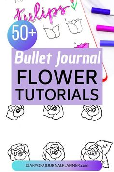 Find a huge list of flower doodle tutorials and step-by-step flower drawing ideas. From rose drawing to simple flower doodles for bullet journals and more. Small Flower Drawings, Daisy Flower Drawing, Flower Drawing Images, Simple Flower Drawing, Beautiful Flower Drawings, Flower Drawing Tutorials, Leaf Drawing, Flower Tutorial, Bullet Journal Inspiration
