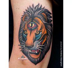 Lion (by Miss Arianna, Skinwear Tattoo Rimini, Italy)
