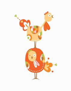 Spring Chickens Print