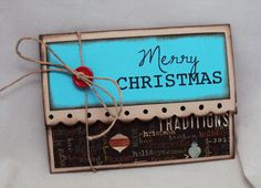 Merry Christmas Scalloped Gift Card Holder by bowpeepcreations, $3.25