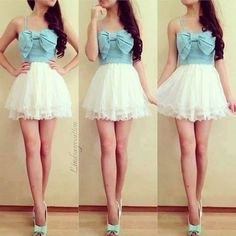 Modern day disney princess Ariel would wear this. Cute Sweetheart Short Prom Dress,Homecoming Dress from Sweetheart Girl Mini Dress With Sleeves, Dress With Bow, Dress Up, Dress Skirt, Dress Clothes, Dress Long, Bow Skirt, Mini Skirt, Swag Dress