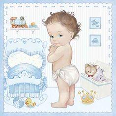 Baby Shower Labels, Baby Boy Shower, Baby Images, Baby Photos, Album Baby, Scrapbook Bebe, We Bare Bears Wallpapers, Craft Images, Photo Album Scrapbooking