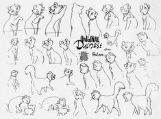 Living Lines Library: The AristoCats (1970) - Model Sheets Production Drawings