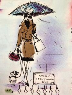 Rain Fashion Illustration