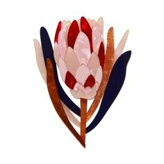 Cheer for Protea Brooch Protea Flower, You're Awesome, Keepsake Boxes, Art Deco Fashion, All Design, Bold Colors, Illustrators, Rooster, Cheer
