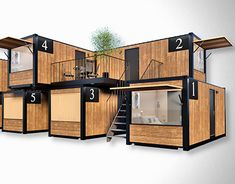 mobile home vacation house Pagus Container Hotel, Container House Plans, Container House Design, Container Buildings, Container Architecture, Sustainable Architecture, Pavilion Architecture, Residential Architecture, Contemporary Architecture