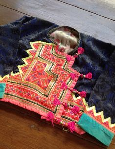 Vintage Hmong hilltribe childs Clothing Vintage wrap Jacket textile supplies on Etsy, $35.00